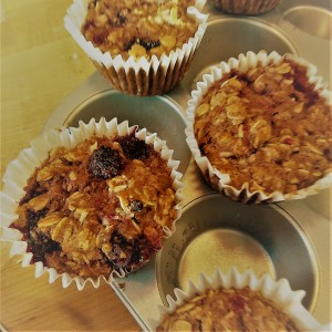 Gluten free berry muffin